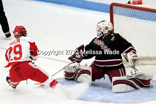 Marie-Philip Poulin (BU - 29), Laura Bellamy (Harvard - 1) - The Boston University Terriers defeated the Harvard University Crimson 5-2 on Monday, January 31, 2012, in the opening round of the 2012 Women's Beanpot at Walter Brown Arena in Boston, Massachusetts.