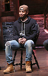 "Terrance Spencer during the ""Hamilton"" eduHAM Student Matinee Q & A  at the Richard Rodgers Theatre on February 13, 2019 in New York City."