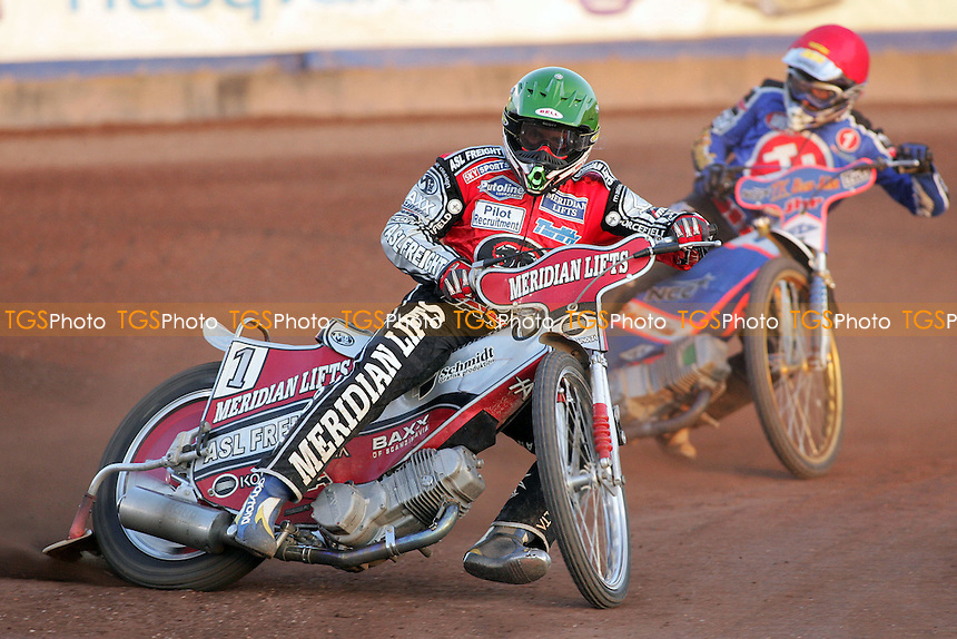 Heat 11 - Hans Andersen sees off Mikael Max - Arena Essex Hammers vs Peterborough Panthers - Sky Sports Elite League 'A' Fixture - 03/07/06 - (Gavin Ellis 2006)