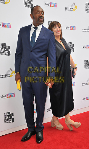 Sir Lenny Henry and Lisa Makin at the South Bank Sky Arts Awards 2019, The Savoy Hotel, The Strand, London, England, UK, on Sunday 07th July 2019.<br /> CAP/CAN<br /> ©CAN/Capital Pictures
