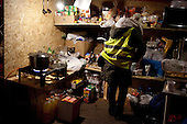 WARSAW, POLAND, December 31, 2016<br /> Kitchen at one of tents belonging to anti-government demonstrators spending time on the street by the Sejm, Polish parliament, which is occupied by the opposition MP's since December 17.<br /> The opposition objects to government plans to ban most of journalists from  covering parliamentary proceedings. The opposition MP's protest delayed a budget 2017 vote, which was later held away from the main parliament chamber and is now considered unlawful, which sparks further protest. The standoff has started December 17 and is bound to continue until the next parliamentary session scheduled for January 11.<br /> (Photo by Piotr Malecki / Napo Images)<br /> ****<br /> WARSZAWA, 31.12.2016. <br /> Kuchnia w namiocie czlonkow grupy popierajacej poslow opozycji ktorzy okupuja sejm, przed sejmem. Poslowie opozycji z partii PO i Nowoczesna pozostaja w sali planarnej Sejmu,  nie opuszczajac jej od 17/12 i planuja pozostanie do nastepnego posiedzenia 11 stycznia. Jest to dzialanie w obronie wolnosci mediow i przeciwko uchwaleniu budzetu przez partie rzadzaca w innej sali, bez obecnosci poslow opozycji. <br /> Fot. Piotr Malecki / Napo Images<br /> <br /> ###ZDJECIE MOZE BYC UZYTE W KONTEKSCIE NIEOBRAZAJACYM OSOB PRZEDSTAWIONYCH NA FOTOGRAFII### ###
