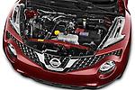 Car Stock 2017 Nissan JUKE SV 5 Door SUV Engine  high angle detail view