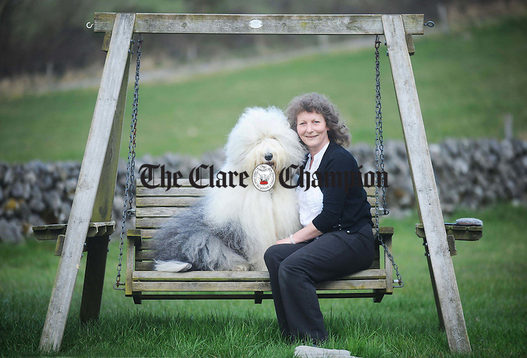 Caroline Ford at home in Carron with Rosie. Photograph by Declan Monaghan
