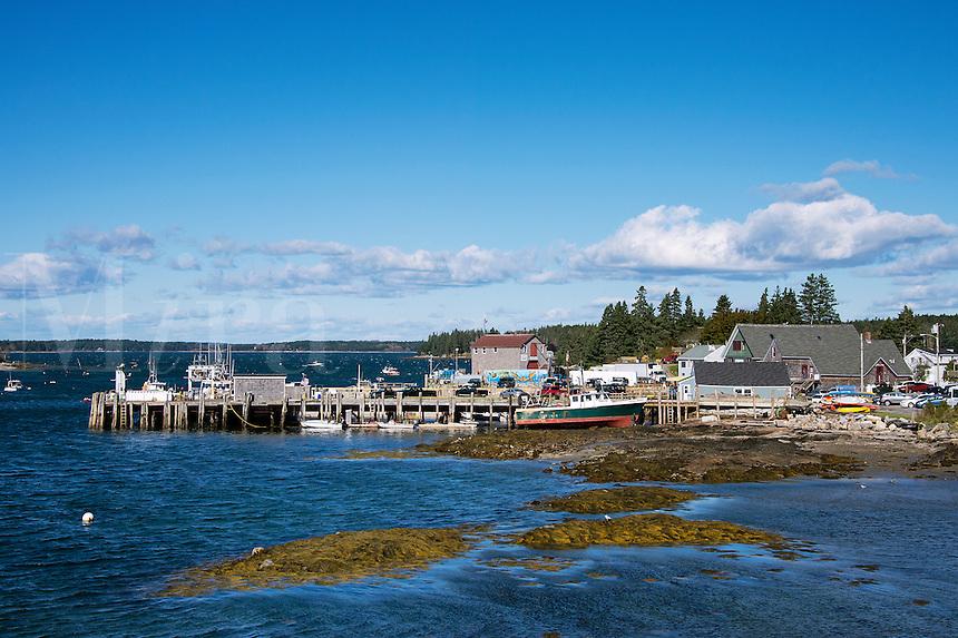 Quaint fishing village,  Port Clyde, Maine, USA