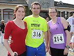 Denise and Clare Fogarty and Hugh Conlon pictured at the Ardee 10K run. Photo: www.colinbellphotos.com
