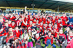 Kenmare' captain Stephen O'Brien  with his team mates and supporters after winning  the County Intermediate Championship final against Templenoe in Fitzgerald Stadium on Sunday
