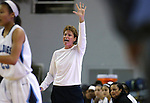 Centennial Head Coach Karen Weitz works the sidelines of a game against Reno during the NIAA state basketball tournament in Reno, Nev. on Thursday, Feb. 25, 2016. Centennial won 82-53. Cathleen Allison/Las Vegas Review-Journal