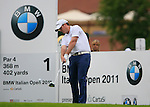 Marcus Fraser (AUS) tees off to start his round on the 1st tee during Day 2 of the BMW Italian Open at Royal Park I Roveri, Turin, Italy, 10th June 2011 (Photo Eoin Clarke/Golffile 2011)