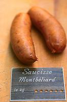 Europe/France/Alsace/67/Bas-Rhin/Strasbourg: La saucisse de Montbelliard ingrédient de la choucroute alsacienne