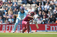 Nicholas Pooran (West Indies) plays and misses            with Jos Buttler (England) taking behind the wicket during England vs West Indies, ICC World Cup Cricket at the Hampshire Bowl on 14th June 2019