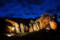 Boqueirao da Pedra Furada, Parque Nacional da Serra da Capivara, ( Capivara Mountains National Park ) Piaui State, Northeastern Brazil.