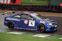 Final rounds of the 2001 British Touring Car Championship at Brands Hatch. #5 Jason Plato. Vauxhall Motorsport. Vauxhall Astra Coupe. Drivers Champion.