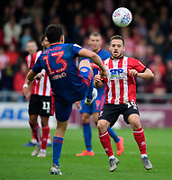 Lincoln City's Jack Payne vies for possession with Sunderland's Luke O'Nien<br /> <br /> Photographer Chris Vaughan/CameraSport<br /> <br /> The EFL Sky Bet League One - Lincoln City v Sunderland - Saturday 5th October 2019 - Sincil Bank - Lincoln<br /> <br /> World Copyright © 2019 CameraSport. All rights reserved. 43 Linden Ave. Countesthorpe. Leicester. England. LE8 5PG - Tel: +44 (0) 116 277 4147 - admin@camerasport.com - www.camerasport.com