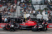 2017 Verizon IndyCar Series - Firestone Grand Prix of St. Petersburg<br /> St. Petersburg, FL USA<br /> Sunday 12 March 2017<br /> Mikhail Aleshin pit stop<br /> World Copyright:Sam Cobb/LAT Images<br /> ref: Digital Image cobb-stpete-170312-4423