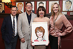 Brooks Ashmanskas, Christopher Sieber, Beth Leavel and Angie Schworer during the Beth Leavel Portrait unveiling at Sardi's on 3/26/2019 in New York City.