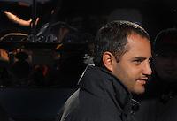 Mar 30, 2007; Martinsville, VA, USA; Nascar Nextel Cup Series driver Juan Pablo Montoya (42) during practice for the Goody's Cool Orange 500 at Martinsville Speedway. Martinsville marks the second race for the new car of tomorrow. Mandatory Credit: Mark J. Rebilas