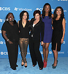 WEST HOLLYWOOD, CA - SEPTEMBER 18: Sheryl Underwood, Sara Gilbert, Sharon Osbourne, Aisha Tyler and Julie Chen arrive at the CBS 2012 fall premiere party at Greystone Manor Supperclub on September 18, 2012 in West Hollywood, California.