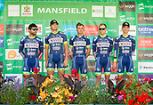 6th September 2017, Mansfield, England; OVO Energy Tour of Britain Cycling; Stage 4, Mansfield to Newark-On-Trent;  The Wanty - Groupe Gobert team pose for photos after registration sign-in at Mansfield