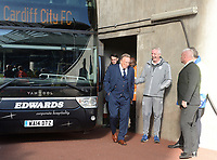 Cardiff City manager Neil Warnock arrives at the Liberty stadium<br /> <br /> Photographer Ian Cook/CameraSport<br /> <br /> The EFL Sky Bet Championship - Swansea City v Cardiff City - Sunday 27th October 2019 - Liberty Stadium - Swansea<br /> <br /> World Copyright © 2019 CameraSport. All rights reserved. 43 Linden Ave. Countesthorpe. Leicester. England. LE8 5PG - Tel: +44 (0) 116 277 4147 - admin@camerasport.com - www.camerasport.com