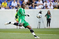Los Angeles Galaxy goalkeeper Donovan Ricketts (1). The Los Angeles Galaxy defeated the New York Red Bulls 1-0 during a Major League Soccer (MLS) match at Red Bull Arena in Harrison, NJ, on August 14, 2010.