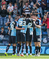 Celebrations as Jason Banton of Wycombe Wanderers scores his goal during the Sky Bet League 2 match between Wycombe Wanderers and Plymouth Argyle at Adams Park, High Wycombe, England on 12 September 2015. Photo by Andy Rowland.