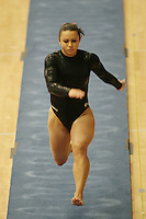 15 January 2006: Liz Tricase during Stanford's gymnastics meet at Maples Pavilion in Stanford, CA.