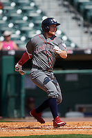 Lehigh Valley IronPigs left fielder Cody Asche (31) at bat during a game against the Buffalo Bisons on August 28, 2016 at Coca-Cola Field in Buffalo, New York.  Lehigh Valley defeated Buffalo 5-2.  (Mike Janes/Four Seam Images)