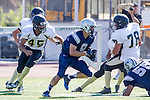 Torrance, CA 09/05/13 - \nj9\ and Andrew Condon (Peninsula #45) in action during the Peninsula vs North Junior Varsity football game played at North High School in Torrance, California.