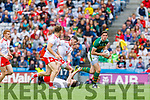 David Moran, Kerry in action against Colm Cavanagh, Tyrone during the All Ireland Senior Football Semi Final between Kerry and Tyrone at Croke Park, Dublin on Sunday.