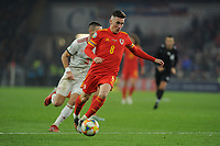 Harry Wilson of Wales in action during the UEFA Euro 2020 Group E Qualifier match between Wales and Hungary at the Cardiff City Stadium in Cardiff, Wales, UK. Tuesday 19th November 2019