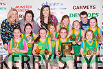 The Gneeveguilla NS team that defeated Scartaglen NS in the District NS Junior girls final in the St Marys Basketball blitz at Castleisland Community Centre on Tuesday 30th December front row l-r: Ciara Hickey, Caoimhe Guerin-Crowley, Tara O'Leary, Chloe McCarthy. Middle row: Katelyn O'Leary, Amy Fleming, Roisin Collins, Roisin Brosnan, Leigh Jones. Back row: Geraldine Shanahan Principal, Aisling Collins, Roisin Casey Miss Basketball and John O'Leary