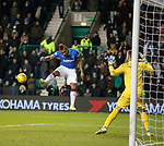 Alfredo Morelos misses from piont blank with his header