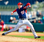 4 March 2010: Washington Nationals' pitcher Drew Storen on the mound during the Nationals-Astros Grapefruit League Opening game at Osceola County Stadium in Kissimmee, Florida. The Houston Astros defeated the Nationals split-squad 15-5 in Spring Training action. Mandatory Credit: Ed Wolfstein Photo