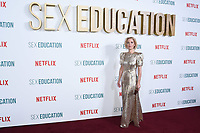 "Gillian Anderson<br /> arriving for the ""Sex Education"" season 2 launch at Genesis Cinema Mile End Road, London.<br /> <br /> ©Ash Knotek  D3547 08/01/2020"