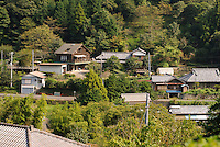 The local village, Marutou Wasabi is top left, Shimoda, Japan, October 17, 2010.