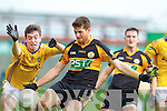 Barry Shanahan Austin Stacks in action against David Foran Feale Rangers in the Semi Finals of the Senior County Football Championship at Austin Stack Park on Sunday.