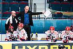 Stockholm 2014-02-24 Ishockey Hockeyallsvenskan Djurg&aring;rdens IF - S&ouml;dert&auml;lje SK :  <br /> S&ouml;dert&auml;ljes tr&auml;nare Andreas Johansson sl&aring;r ut med armarna i b&aring;set bakom S&ouml;dert&auml;ljes Lucas Carlsson , S&ouml;dert&auml;ljes Fredric Andersson och S&ouml;dert&auml;ljes Jesper Th&ouml;rnberg <br /> (Foto: Kenta J&ouml;nsson) Nyckelord:  depp besviken besvikelse sorg ledsen deppig nedst&auml;md uppgiven sad disappointment disappointed dejected tr&auml;nare manager coach