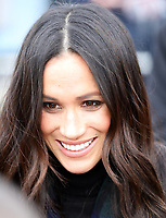 Ms. Meghan Markle arrive at the Esplanade in front of the Edinburgh Castle in Edinburgh, on February 13, 2018, on their first official joint visit to Scotland Photo: Albert Nieboer / Netherlands OUT / Point De Vue Out Photo: Albert Nieboer/RoyalPress/dpa /MediaPunch ***FOR USA ONLY***