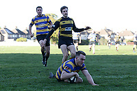 Upminster score their second try during Upminster RFC vs Billericay RFC, Essex Canterbury Jack League Rugby Union at Hall Lane Playing Fields on 3rd November 2018