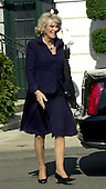 Washington, D.C. - November 2, 2005 -- Camilla, the Duchess of Cornwall arrives at the White House for a luncheon with United States President George W. Bush, first lady Laura Bush, and her husband, Charles, the Prince of Wales in Washington, D.C. on November 2, 2005.  .Credit: Ron Sachs / CNP.(Restriction: No New York Metro or other Newspapers within a 75 mile radius of New York City)