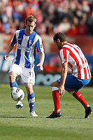 02.05.2012 SPAIN -  La Liga matchday 20th  match played between Atletico de Madrid vs Real Sociedadl (1-1) at Vicente Calderon stadium. The picture show David Zurutuza Veillet (Midfielder of Real Sociedad)