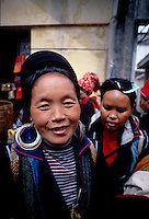 A friendly, smiling Black H'mong woman, Sapa, Vietnam