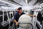 URUGUAY Verarbeitung von Merino Schafswolle bei Lanas Trinidad S.A. , Wollkaemmerei und Spinnerei / .URUGUAY city Trinidad, company Lanas Trinidad  S.A. processing of Merino sheep wool at wool combing unit