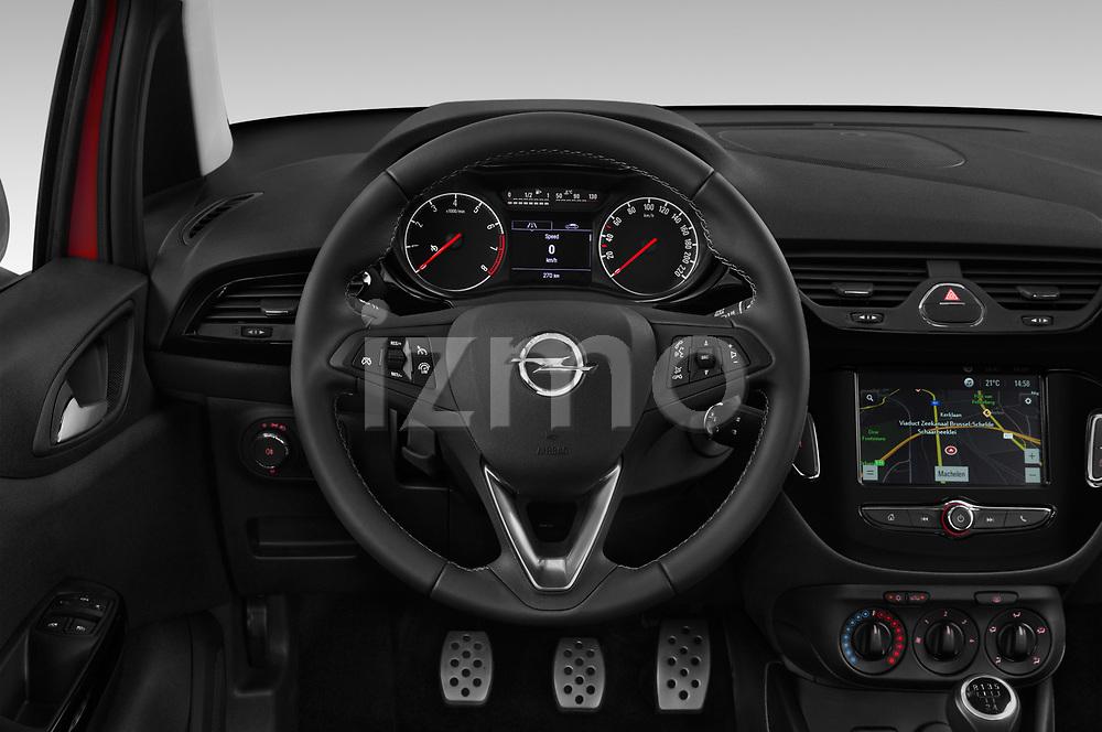 Car pictures of steering wheel view of a 2018 Opel Corsa Black-Edition 5 Door Hatchback Steering Wheel
