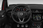 Car pictures of steering wheel view of a 2018 Opel Corsa Black-Edition 5 Door Hatchback Steering Wheel