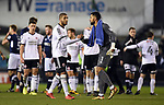 Leon Clarke of Sheffield United shakes hands with Millwall goalkeeper Jordan Archer at the end of the championship match at The Den Stadium, Millwall. Picture date 2nd December 2017. Picture credit should read: Robin Parker/Sportimage