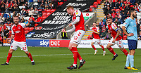 Fleetwood Town's Cian Bolger celebrate scoring the opening goal <br /> <br /> Photographer Alex Dodd/CameraSport<br /> <br /> The EFL Sky Bet League One - Fleetwood Town v Accrington Stanley - Saturday 15th September 2018  - Highbury Stadium - Fleetwood<br /> <br /> World Copyright &copy; 2018 CameraSport. All rights reserved. 43 Linden Ave. Countesthorpe. Leicester. England. LE8 5PG - Tel: +44 (0) 116 277 4147 - admin@camerasport.com - www.camerasport.com