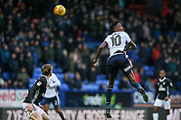 Bolton Wanderers' Sammy Ameobi flicks the ball on <br /> <br /> Photographer Andrew Kearns/CameraSport<br /> <br /> The EFL Sky Bet Championship - Bolton Wanderers v Fulham - Saturday 10th February 2018 - Macron Stadium - Bolton<br /> <br /> World Copyright &copy; 2018 CameraSport. All rights reserved. 43 Linden Ave. Countesthorpe. Leicester. England. LE8 5PG - Tel: +44 (0) 116 277 4147 - admin@camerasport.com - www.camerasport.com