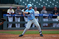 Adam Pate (2) of the North Carolina Tar Heels at bat against the Boston College Eagles in Game Five of the 2017 ACC Baseball Championship at Louisville Slugger Field on May 25, 2017 in Louisville, Kentucky. The Tar Heels defeated the Eagles 10-0 in a game called after 7 innings by the Mercy Rule. (Brian Westerholt/Four Seam Images)