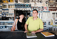 Gerardo Alarcón Palomares and Carla Maibella Ortiz.  Hardware store owners in Culiacan, Sinaloa,  Mexico